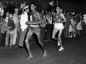 Barefoot, like Abebe Bikila